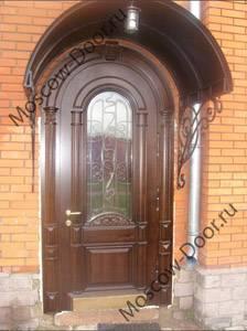 металлические арочные двери на дачу