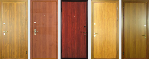 железные двери с ламинацией